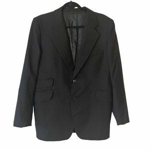 Vintage 1950s Men's Blazer Suit Jacket Black